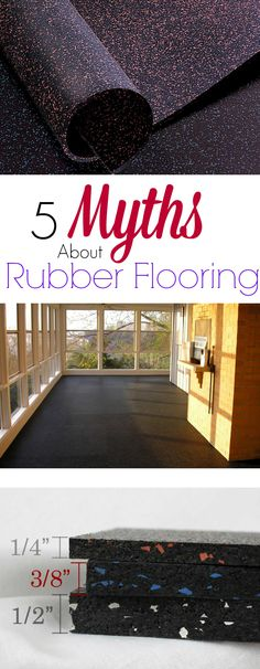 5 Myths About Rubber Flooring: Discover the truth about the best flooring for home and commercial gyms