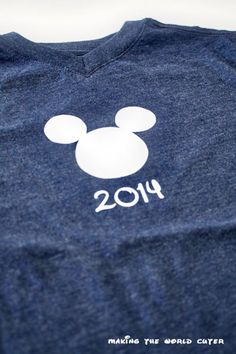 DIY Disney Shirts from Making the World Cuter. These are so cute!