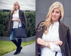 Lena B - Zara Coat, Asos Shirt, Zara Shopper Bag, Krack X Lovely Pepa Overknees, Michael Kors Watch, Swarovski Bracelet - Casual in Khaki