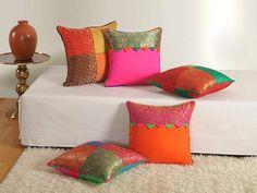Swayam Assorted Brocket Cushion Cover Set of 5 Sofa Decor, Couch Cushion Covers, Decorative Sofa Pillows, Cushion Design, Diy Pillow Covers, Cushion Cover Designs, Diy Home Decor, Cushion Cover, Diy Pillows