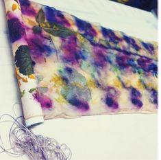 #ecodyeing #dyeing Eco printing tutorial