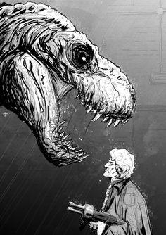 Doctor Who art by Tristan Jones