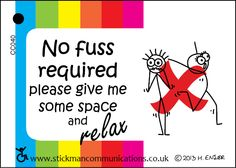 No Fuss Required keyring card