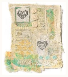art quilts fusible collage | Fiber collage made from needle-felted papers and silk, by Rebekah ...