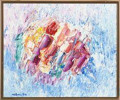 Blomst i sne av Jacob Weidemann Norway, Paintings, Abstract, Artwork, Summary, Work Of Art, Paint, Auguste Rodin Artwork, Painting Art