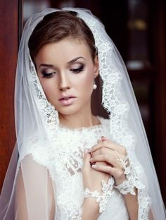wedding makeup http://www.mybigdaycompany.com/weddings.html Love this veil!
