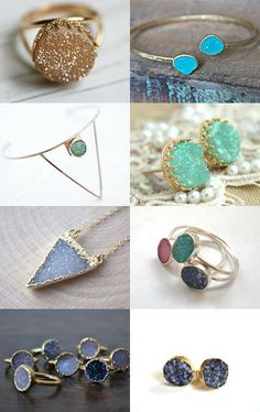 Druzy Crazy  by Lindsey Myers on Etsy--Pinned with TreasuryPin.com