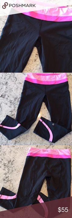 Lululemon run inspire size EUC. Lululemon run inspire crop size 6. These are in excellent condition. No wear, tear, stains, pilling, etc. be sure to check out my other lulu for sale! lululemon athletica Pants Leggings