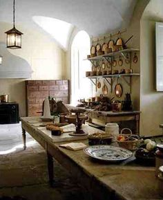 The Kitchen at Inveraray Castle, Argyll, west Scotland