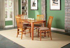Atlantic Furniture Shaker 36x60 Dining Table Caramel Latte by Atlantic Furniture. $262.00. Atlantic Furniture's Shaker Dining and Pub Tables feature the classic Shaker design that will look picture perfect in any home. The table is made of 100 percent solid eco-friendly hardwood and finished with our high build five step finishing process and is available in three finishes. Exceptional craftsmanship and high quality materials mean that you can feel confident that your purchase...