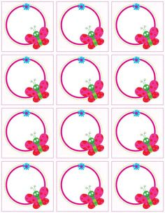 """""""Cute animal labels"""": """"Butterflies on the circle"""" labels Diy And Crafts, Crafts For Kids, Paper Crafts, Birthday Charts, School Frame, Butterfly Crafts, Printable Butterfly, School Labels, School Clipart"""