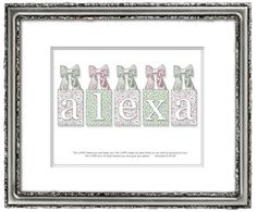 Personalized Childrens Name Art  8X10 ALEXA by WITNESSartandgifts, $15.00