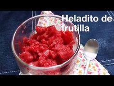 Helado de frutillas falso, casero, sano y riquísim - YouTube