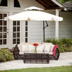 The Tahiti Sun Canopy Umbrella makes a perfect shade solution for you and your guests. Function and form go hand in hand with this durable piece, designed to give you all of the benefits of being outd