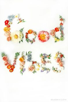 Good Vibes DIY flowe