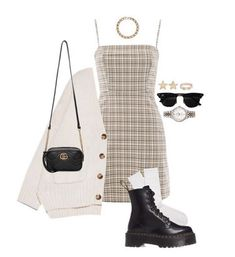 Komplette Outfits, Kpop Fashion Outfits, Retro Outfits, Girly Outfits, Cute Casual Outfits, Polyvore Outfits, Stylish Outfits, Fall Outfits, Mode Grunge