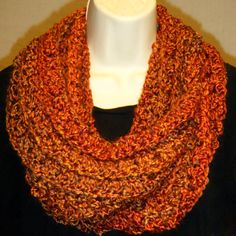 Handmade Crocheted Scarf Cowl Neck Warmer Infinity by YARNutopia, $12.00