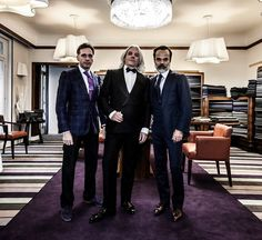 What an honor to be with Lorenzo Cifonelli and Massimo Cifonelli today in Paris. A double-breasted tuxedo made by Cifonelli Bespoke with a midnight blue Vitale Barberis Canonico Barathea fabric. Picture by Andy Julia