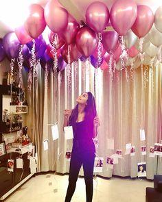 Gold Birthday Party, Birthday Cake Girls, Birthday Balloons, Birthday Parties, Surprise Birthday, Birthday Surprise For Boyfriend, 21st Birthday, Birthday Decorations At Home, Balloon Decorations