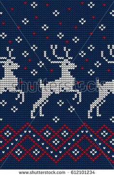 Knitted Christmas and New Year pattern Baby Boy Knitting Patterns, Knitting Machine Patterns, Christmas Knitting Patterns, Crochet Patterns, Cross Stitch Christmas Stockings, Xmas Cross Stitch, Cross Stitch Designs, Cross Stitch Patterns, Alpha Patterns