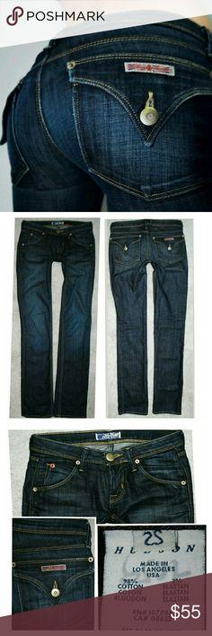 HUDSON STRAIGHT LOWRISE DENIM JEANS 0 25 X 32 Authentic  Color: vit Hudson Jeans Jeans Straight Leg