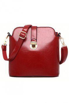 58% OFF Fashion Candy Color Gold-Tone Hardware Shoulder Bag