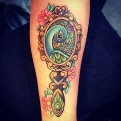 Cute vintage mirror tattoo