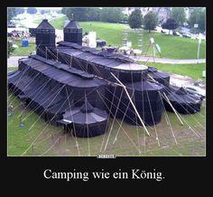 Camping wie ein König. | Lustige Bilder, Sprüche, Witze, echt lustig