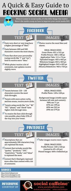 A quick & easy guide to rocking #SocialMedia. #infografia #infographic