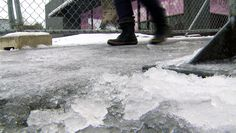 Be careful ⚠ on icy sidewalks ❄☃📵  Walking to and from parking lots or between buildings during the winter requires special attention to avoid slipping and falling. Slips and falls are some of the most frequent types of injuries that occur during the winter months.