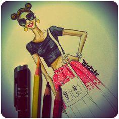Fashion illustration: Александра