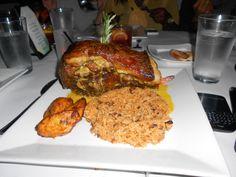 Sofrito's NYC - Pernil con Arroz y Gandules aka Roast Pork w/ Rice + Beans...Portion is big enough to share!