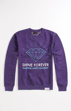 Purple Diamond Supply sweater.