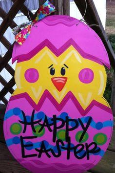 Easter Door Hanger by DoOdLeDotsAnDmOre on Etsy, $30.00