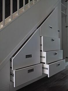 Resultado de imagen para desk under stairs