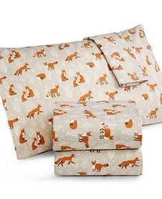 Martha Stewart Collection Novelty Print Flannel Sheet Sets - Sheets - Bed & Bath - Macy's