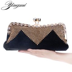 $24.48 - Awesome YINGMI Women Day Clutch Evening Bags Diamonds Beaded Soft Small Chain Shouler Messenger Bag Crystal Wedding Handbags - Buy it Now!