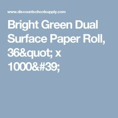 bright green dual surface paper roll