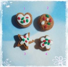 Christmas Cookie Polymer Clay Charm Bead by rainbowdayhappy.  I'll be honest I can't stop pinning these polymer Clay things. They are just so darn cute. I'm trying to pin only specific ones that match my boards but you've just GOT to check out all of them!