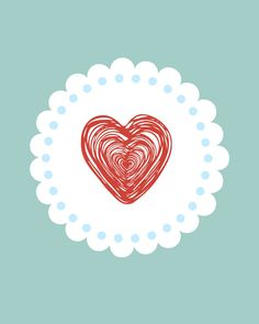 doily heart and i love you free printables perfect for Valentine's Day