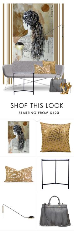 """""""Granada Carrara side table..."""" by gloriettequartet ❤ liked on Polyvore featuring interior, interiors, interior design, home, home decor, interior decorating, Kathy Ireland, CB2, Milly and Giuseppe Zanotti"""