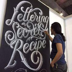 Killing it! Lettering Secret Recipe by Kiko Ardiansjah!  #Typography #lettering #Typeface