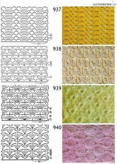 Patterns in the piggy bank (crocheting) - Country Mom Crochet patterns - for your collection)) / Crochet / Crochet for beginners Crochet Motifs, Crochet Borders, Crochet Diagram, Crochet Stitches Patterns, Crochet Chart, Crochet Designs, Crochet Lace, Stitch Patterns, Knitting Patterns