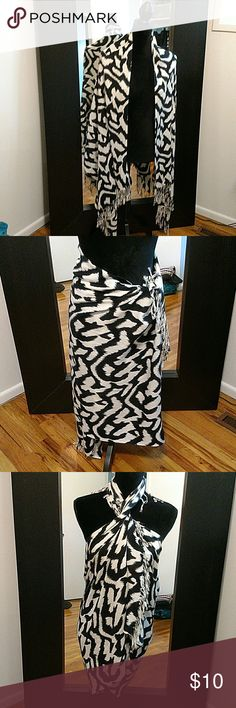 Sarong shawl wrap Navy and off-white animal ikat Wrap sarong shawl Navy animal print design Accessories Scarves & Wraps