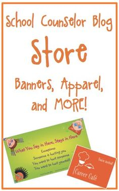 School Counselor Blog: Store - Purchase banners, clothing, and more!