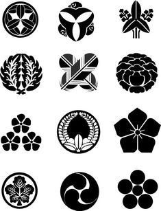 Chinese Patterns, Japanese Patterns, Japanese Design, Icon Design, Design Art, Japanese Family Crest, Japan Graphic Design, Knight Tattoo, Japanese Symbol