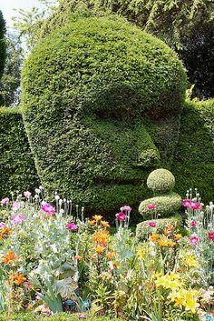 Humanoid topiary at Abbey House Gardens, Malmesbury, Wiltshire