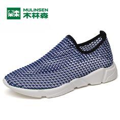 316556d4b0dd MULINSEN Men   Women Lover Breathe Shoes Sport summer stretch Speed line  Knit training barefoot athletic Running Sneaker 270110 - Sport Shoes Apparel