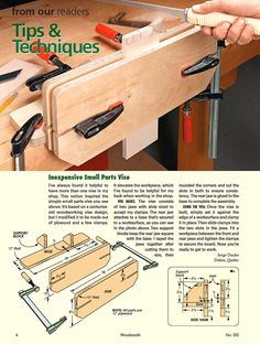 Inexpensive Small Parts Vise - Tips & Techniques | Woodsmith Magazine No 202