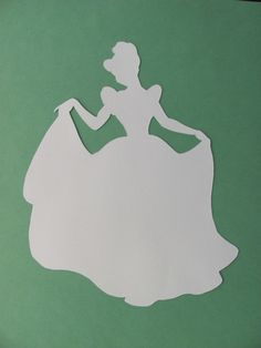 Disney inspired Princess Cinderella silhouette for a nursery or little girl's room, Paper Art Cinderella Silhouette, Disney Princess Silhouette, Disney Princess Dress Up, Cinderella Crafts, Cinderella Birthday, Cinderella Decorations, Disney Cards, Button Art, Disney Inspired